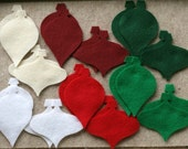 Mistletoe Kisses - Ornaments Value Pack - 72 Die Cut Felt Shapes