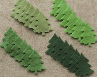O Tannenbaum - Small Christmas Trees Value Pack - 72 Die Cut Felt Shapes