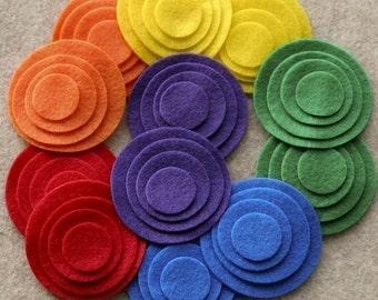 Over the Rainbow - Circles Value Pack - 144 Die Cut Felt Circles