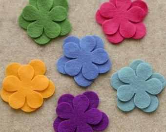 Wonderland - Poppies - 24 Die Cut Felt Flowers