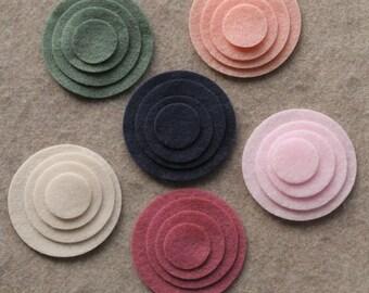 Mayfair Court - Circles - 48 Die Cut Felt Circles