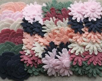 Mayfair Court - Flower Power Pack - 180 Die Cut  Felt Flowers