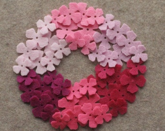 Perfectly Pink - Lilacs - 48 Die Cut Felt Flowers
