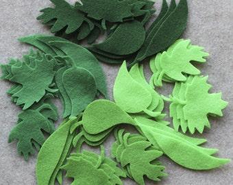 Green Day - Leaf Medley Value Pack - 144 Die Cut Felt Shapes