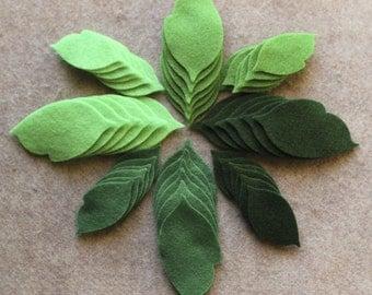 Green Day - Regular Leaves Value Pack - 144 Die Cut Felt Shapes