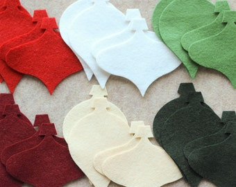 A Wool Christmas - Ornaments Value Pack - 72 Die Cut Wool Felt Shapes