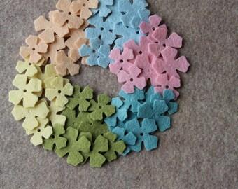 Wool Dream - Lilacs Value Pack- 144 Die Cut Wool Felt Flowers