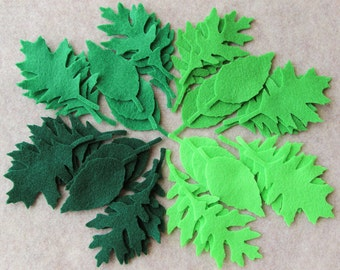 Green Day - Tattered Leaves Value Pack - 108 Die Cut Felt Shapes