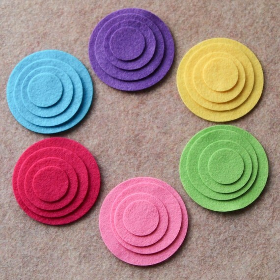 Kool Aid - Circles - 48 Die Cut Wool Blend Felt Circles