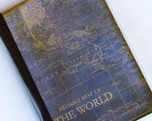 MAP PASSPORT COVER  -  Vintage Reliable Map of the World