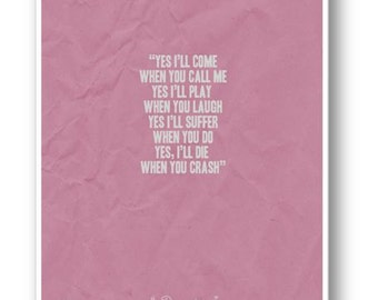When You Call  / Quote / Cecilia Knutson / DIGITAL Typography Poster / Printable