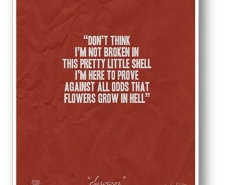 Quote / DIGITAL Typography Poster / Flowers Grow in Hell / Cecilia Knutson / Printable