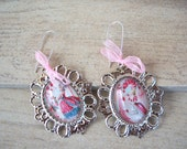 Boudoir Red Marie Antoinette-Set Of Vintage Style Earrings-Available Only In My Shop