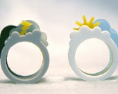 Oh, Happy Day \/ Oh, Crappy Day Ring Set (Medium, Acrylic)
