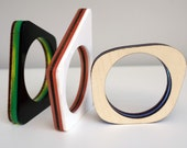 Poptastic Bangle Series (custom set) - modern acrylic and wood bracelets