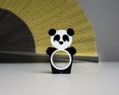 Percival Panda -  super cheerful plastic bear ring (size 7,8,9 only)