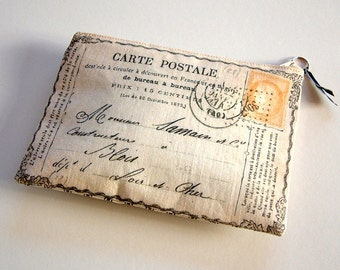 Postcard from France purse