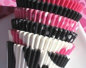 Pink and Black Cupcake Liners - 6 styles (72 count pack) - set 2