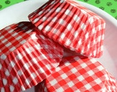 Bulk Holiday Red Gingham Check Cupcake Liners, Baking Cups (150 COUNT)