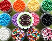 Candy Beads Sprinkles for Cupcakes, Cookies, Cake Pop Decorating - PICK 3 COLORS (2 oz jars)