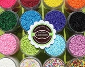 Custom Mix NON Pareil Sprinkles - Pick up to 4 Colors for Your Mix, Tiny Sprinkles (LARGE JAR 4 oz)
