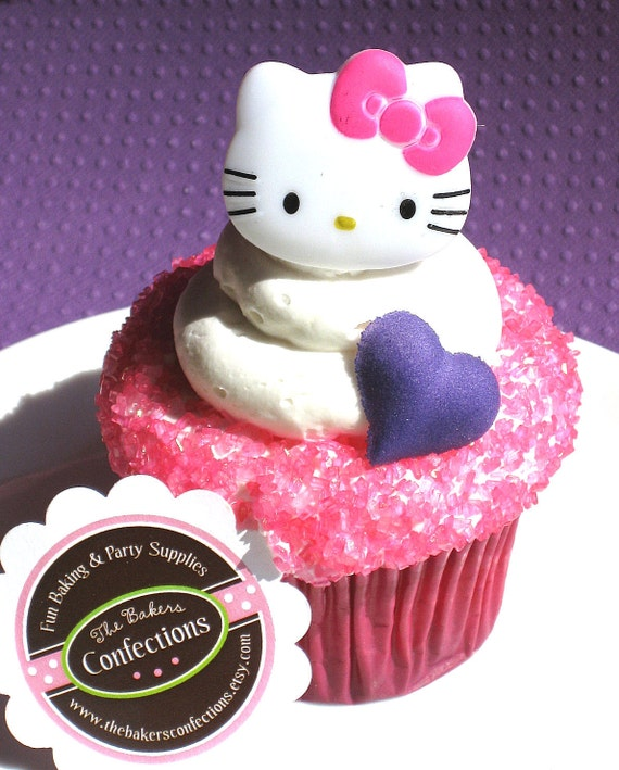 Hello Kitty Ring Cupcake Toppers - Party Favors (set of 12)