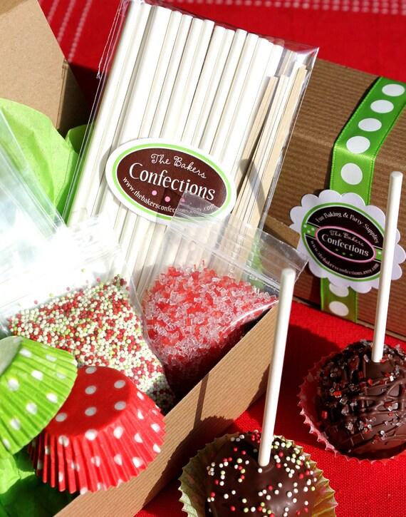 Christmas Cake Decoration Kit : Items similar to Christmas Cake Pop Decorating Kit - Gift ...