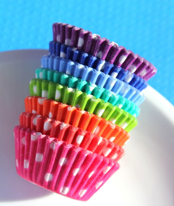 Mini Polka Dot Cupcake Liner Assorted Pack - 8 color pack (160)