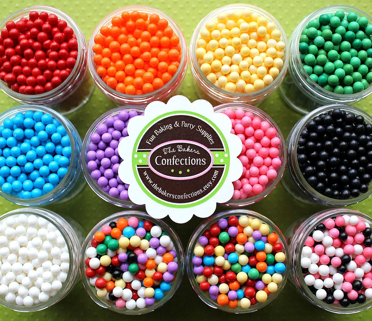 Candy Beads Sprinkles for Cupcakes Cookies Cake Pop