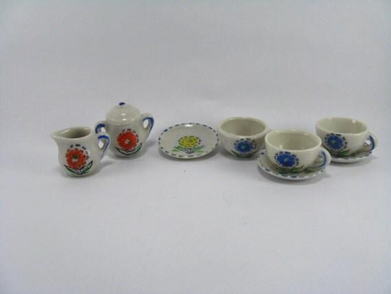 Vintage China Doll Tea Set