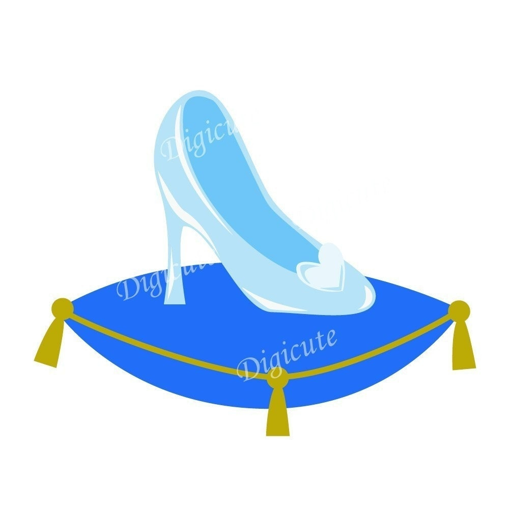 Disney Princess Cinderella's Glass Slipper Digital Clip