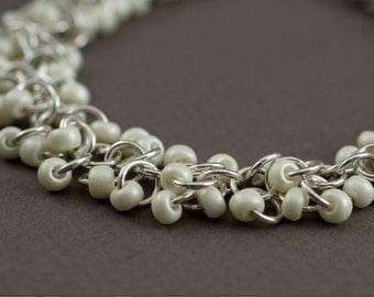 Ripple Bracelet. Sterling silver chainmaille bracelet