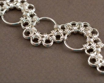 Shenandoah Chainmaille Bracelet Handmade Sterling Silver 925 chain maille mail chainmail