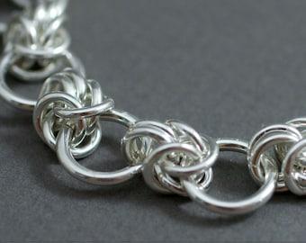 Interupted Byzantine Sterling Silver Bracelet