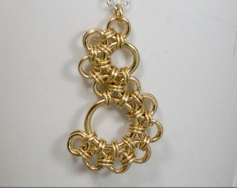 Shenandoah 14K Gold Fill Chainmaille Pendant Necklace