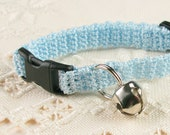 Cat Collar Crochet Siamese Blue