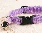 Cat Collar - Crochet  Lilac Purple