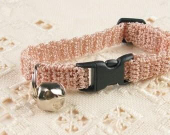 Crochet Cat Kitty Kitten Collar Beige