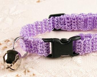 Cat Collar - Crochet  Lilac Purple