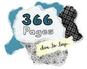 366Pages - Yearlong Online WORKSHOP - mixed media journaling