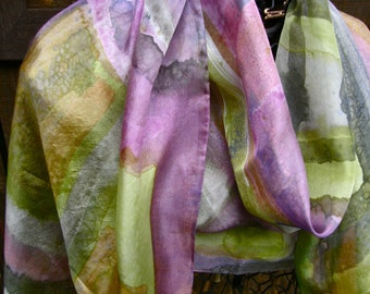 Jubilation Silk--Chartreuse and Rose