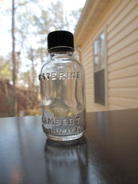 San Francisco Ts >> Vintage Miniature Listerine Bottle / Listerine Lambert