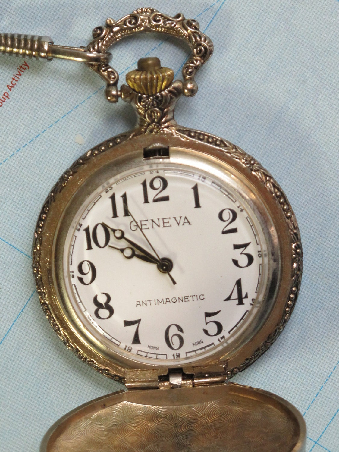 Vintage Geneva Wind Up Pocket Watch For Repair Or Parts