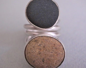 large double - beach rock ring