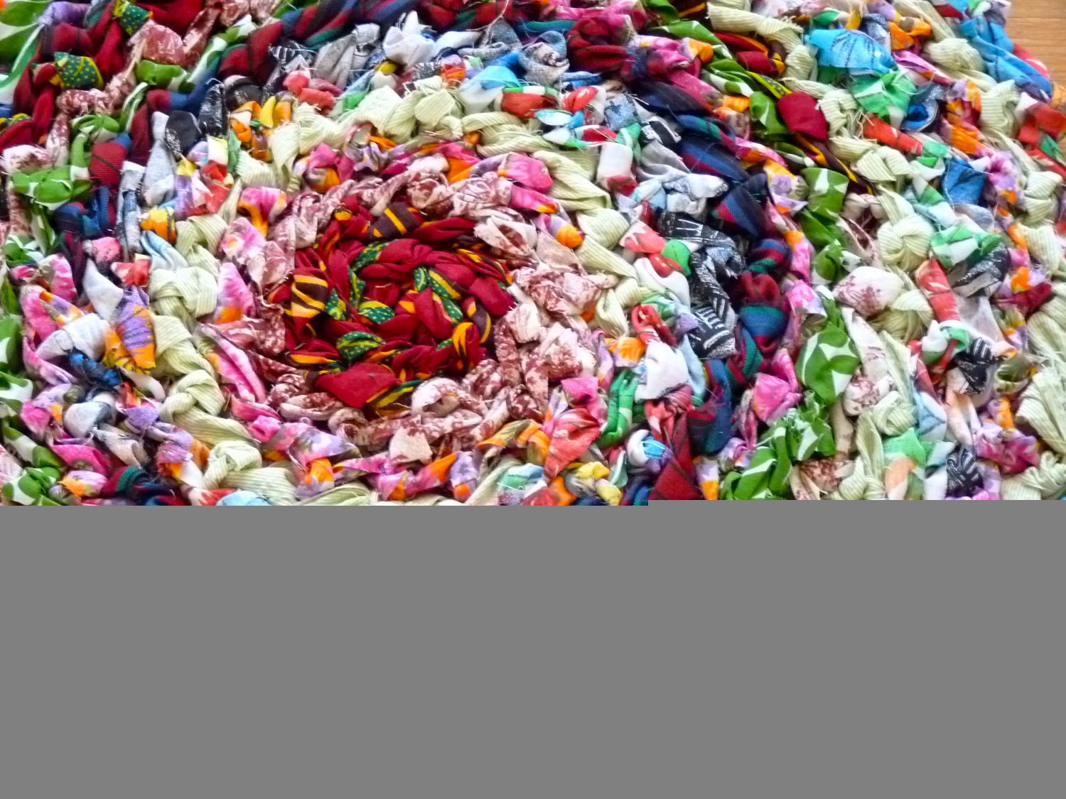 Country Crochet Rag Rug Multicolored Upcycled by goatsandgruff