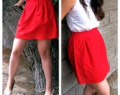 Holly Red Paper Bag Skirt