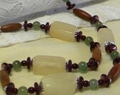 Beaded Necklace, Natural Bead Necklace, Gemstone Bead Necklace,  Onyx Bead Necklace, Women's Necklace, Women's Jewelry