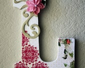 Custom Boutique Large Nursery Wall or Table Monogram Letters