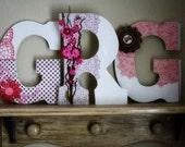Custom Wooden Wedding Initial Monogram Letters