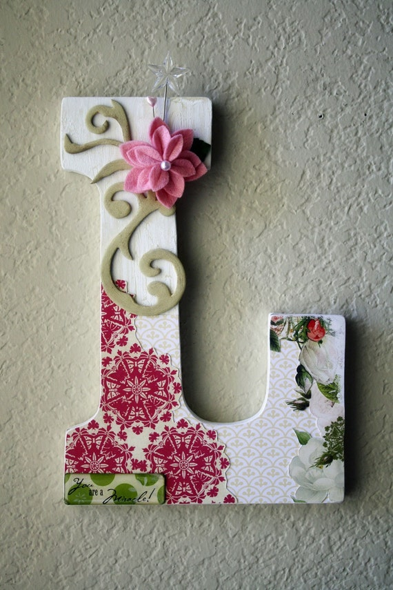 Items similar to custom boutique large nursery wall or for Large wall letters for nursery